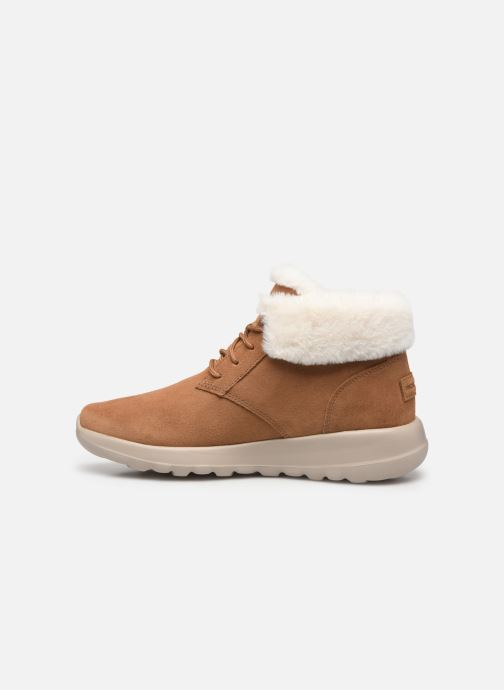 Sneakers Skechers On-The-Go Joy Lush Bruin voorkant