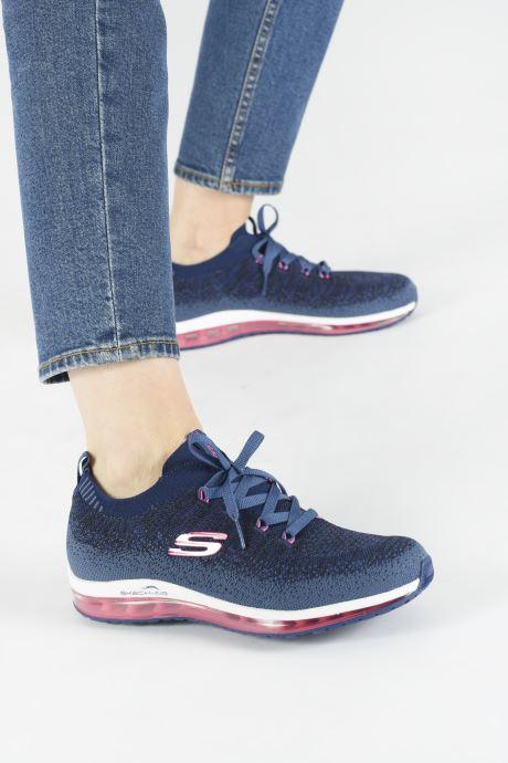 Chaussures de sport Skechers Skech-Air Element W Bleu vue bas / vue portée sac