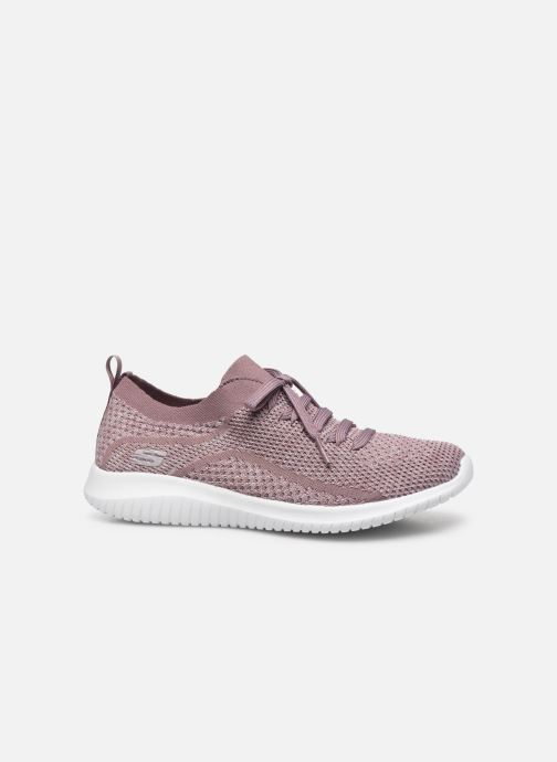 Sport shoes Skechers Ultra Flex Statements Purple back view