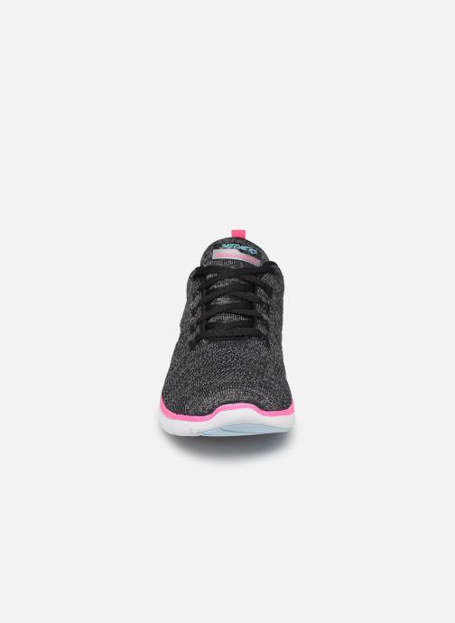 Sportssko Skechers Flex Appeal 3.0 Reinfall Sort se skoene på
