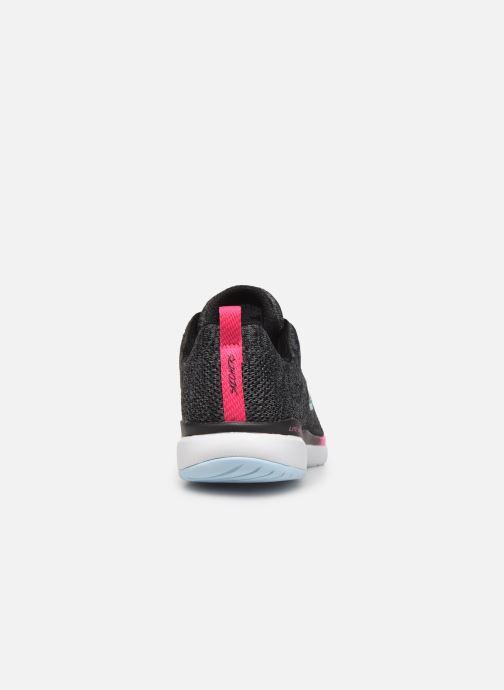 Sportschoenen Skechers Flex Appeal 3.0 Reinfall Zwart rechts