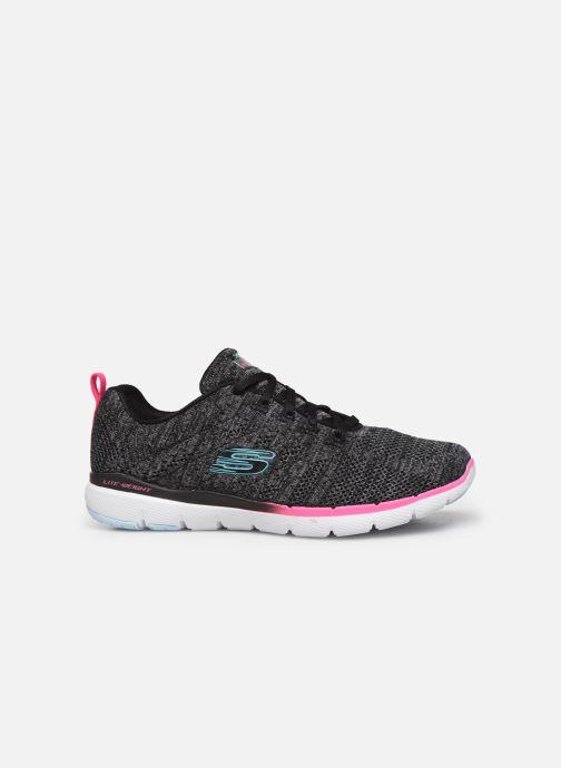Chaussures de sport Skechers Flex Appeal 3.0 Reinfall Noir vue derrière