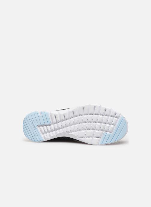 Chaussures de sport Skechers Flex Appeal 3.0 Reinfall Noir vue haut