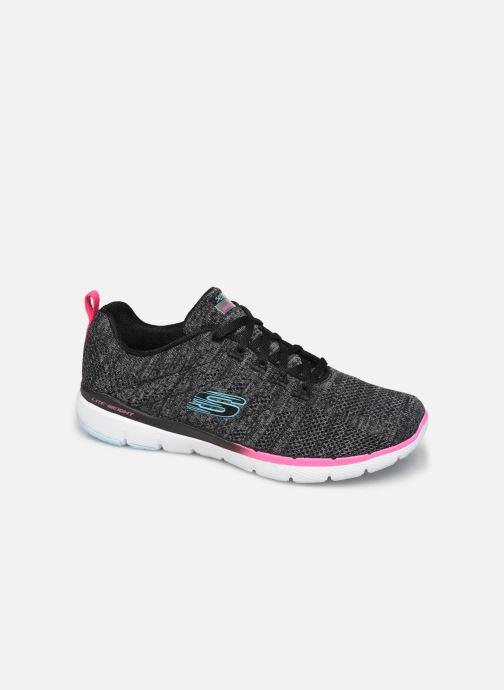 Sportssko Skechers Flex Appeal 3.0 Reinfall Sort detaljeret billede af skoene