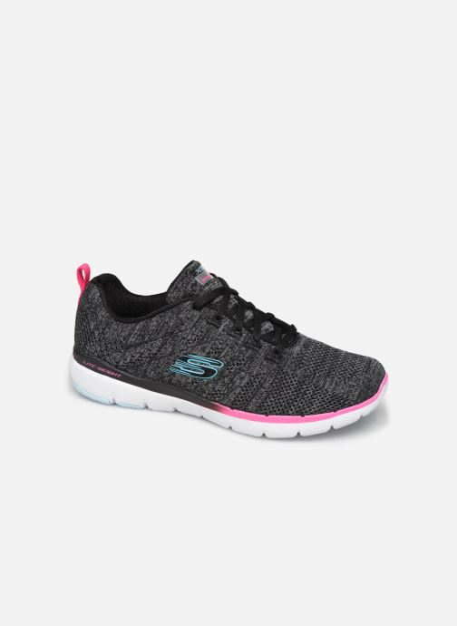 Chaussures de sport Skechers Flex Appeal 3.0 Reinfall Noir vue détail/paire