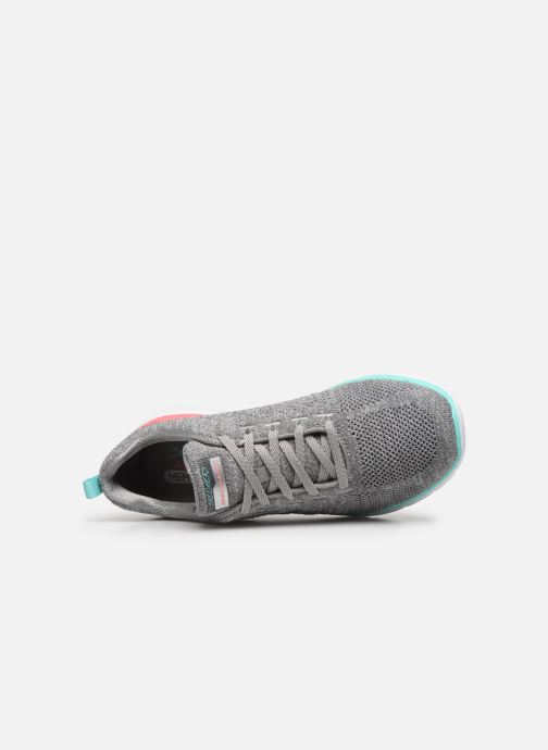 Scarpe sportive Skechers Flex Appeal 3.0 Reinfall Grigio immagine sinistra