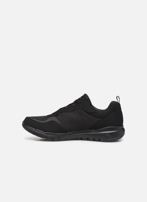 Zapatillas de deporte Skechers Flex Appeal 3.0 Go Forward Negro vista de frente