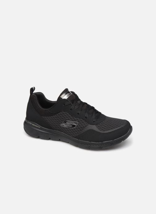 Sportssko Skechers Flex Appeal 3.0 Go Forward Sort detaljeret billede af skoene