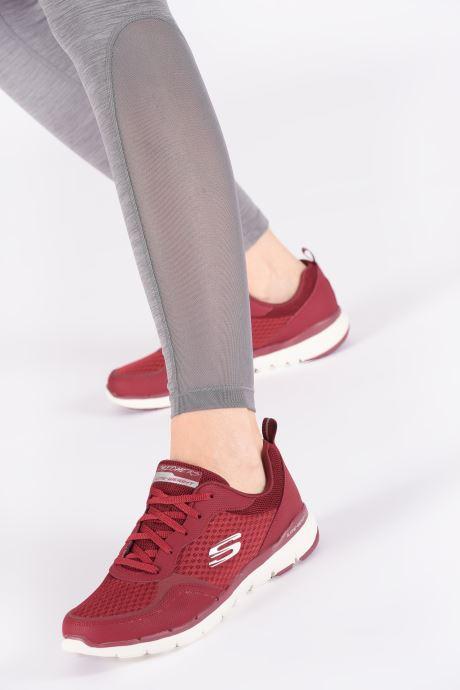 Chaussures de sport Skechers Flex Appeal 3.0 Go Forward Bordeaux vue bas / vue portée sac