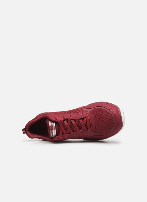 Zapatillas de deporte Skechers Flex Appeal 3.0 Go Forward Vino vista lateral izquierda