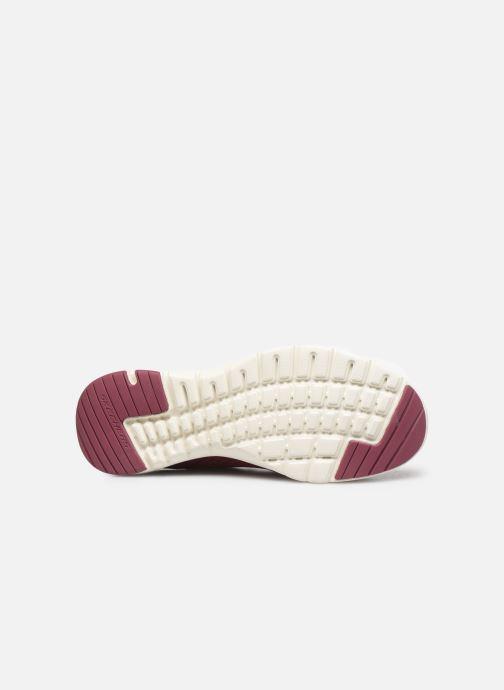 Zapatillas de deporte Skechers Flex Appeal 3.0 Go Forward Vino vista de arriba