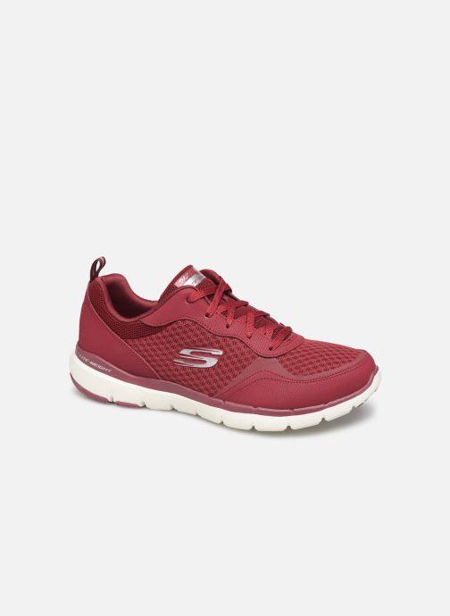 Sportssko Skechers Flex Appeal 3.0 Go Forward Bordeaux detaljeret billede af skoene