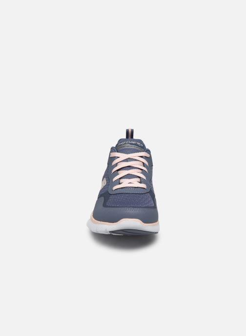 Chaussures de sport Skechers Flex Appeal 3.0 Go Forward Bleu vue portées chaussures