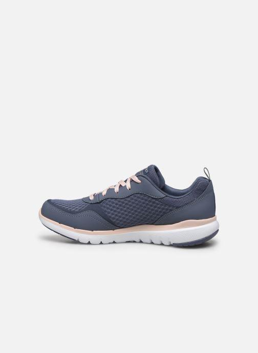 Chaussures de sport Skechers Flex Appeal 3.0 Go Forward Bleu vue face