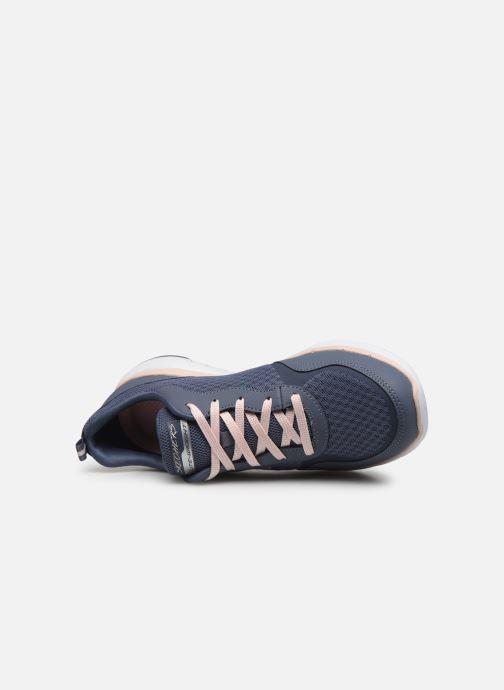 Zapatillas de deporte Skechers Flex Appeal 3.0 Go Forward Azul vista lateral izquierda