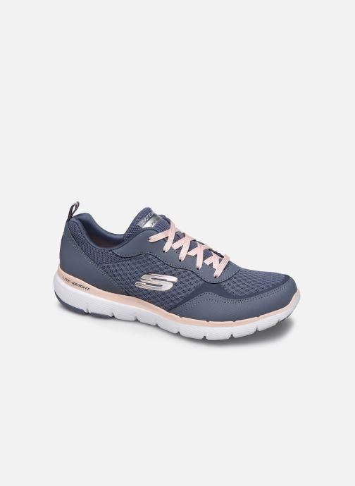 Chaussures de sport Skechers Flex Appeal 3.0 Go Forward Bleu vue détail/paire