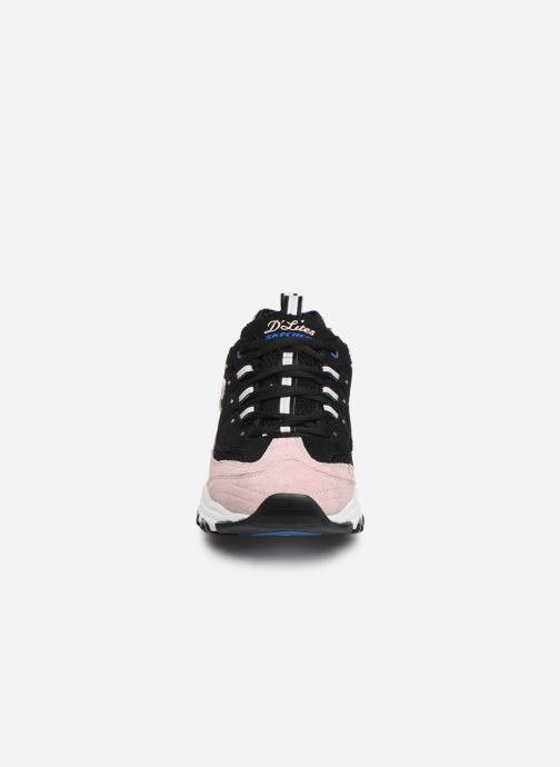 Sneaker Skechers D'Lites Moon View schwarz schuhe getragen