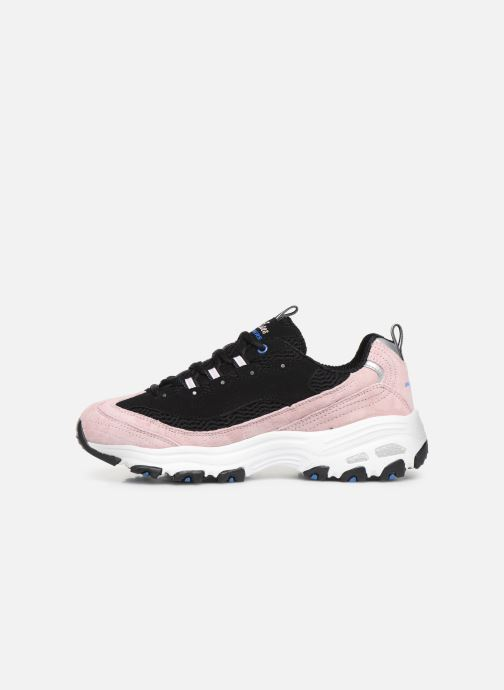 Baskets Skechers D'Lites Moon View Noir vue face