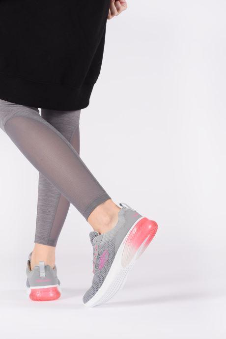 Chaussures de sport Skechers Skech-Air Ultra Flex W Gris vue bas / vue portée sac