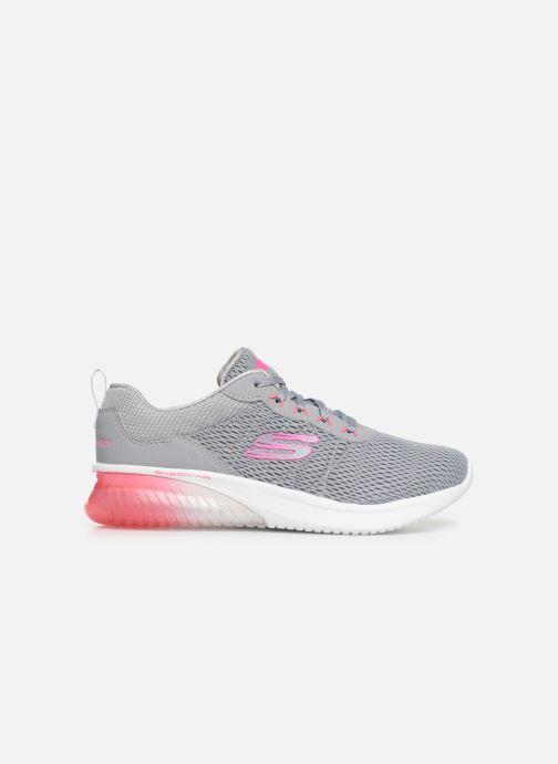 Chaussures de sport Skechers Skech-Air Ultra Flex W Gris vue derrière