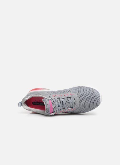 Chaussures de sport Skechers Skech-Air Ultra Flex W Gris vue gauche