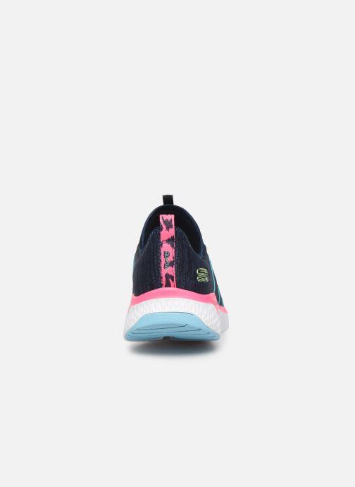 Chaussures de sport Skechers Solar Fuse Electric Pulse Bleu vue droite