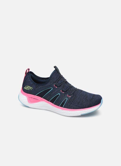Sportssko Skechers Solar Fuse Electric Pulse Blå detaljeret billede af skoene