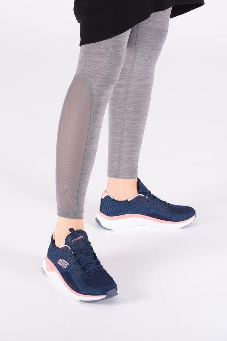 Chaussures de sport Skechers Solar Fuse Brisk Escape Bleu vue bas / vue portée sac