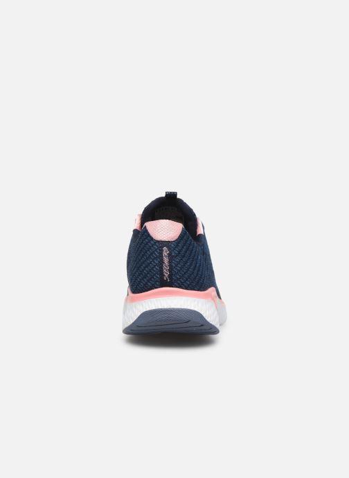 Chaussures de sport Skechers Solar Fuse Brisk Escape Bleu vue droite
