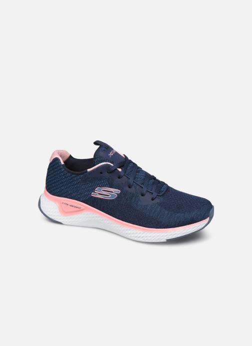 Chaussures de sport Skechers Solar Fuse Brisk Escape Bleu vue détail/paire