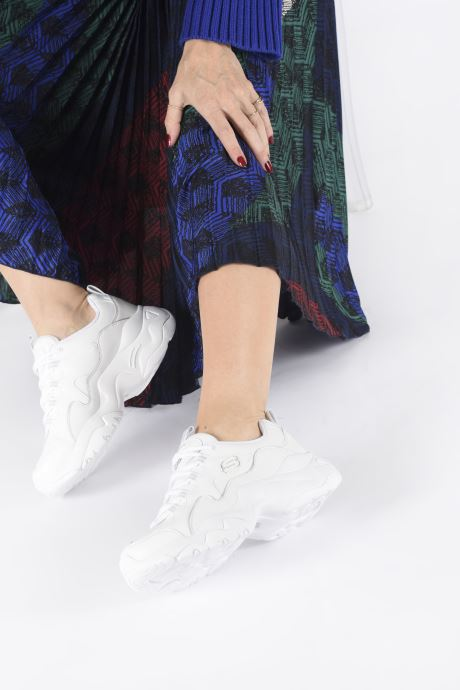 Baskets Skechers D'Lites 3.0 Proven Force Blanc vue bas / vue portée sac