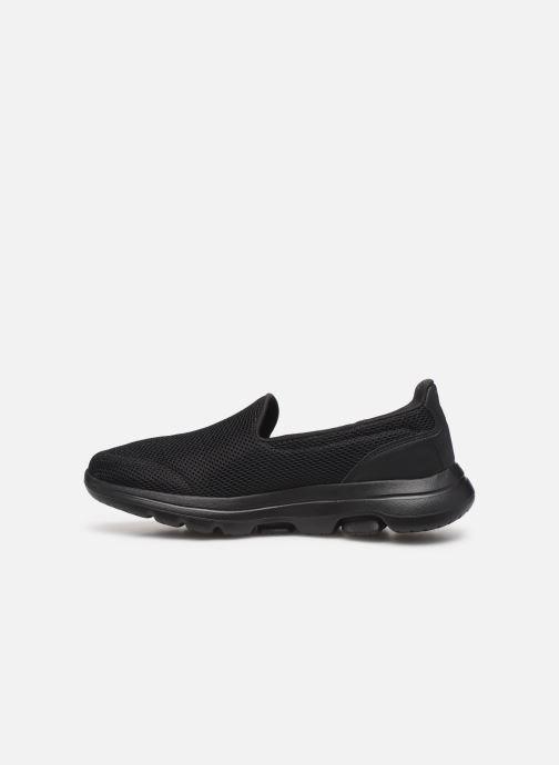 Sneaker Skechers Go Walk 5 schwarz ansicht von vorne