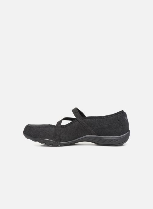 Bailarinas Skechers Breathe-Easy Feel Nice Negro vista de frente