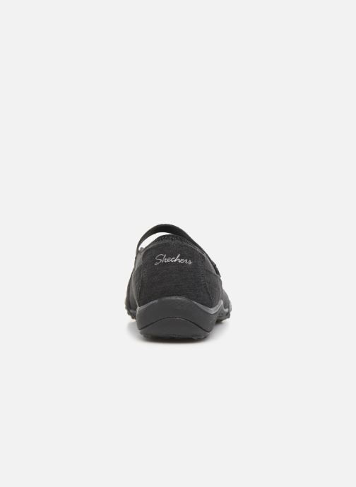 Bailarinas Skechers Breathe-Easy Feel Nice Negro vista lateral derecha