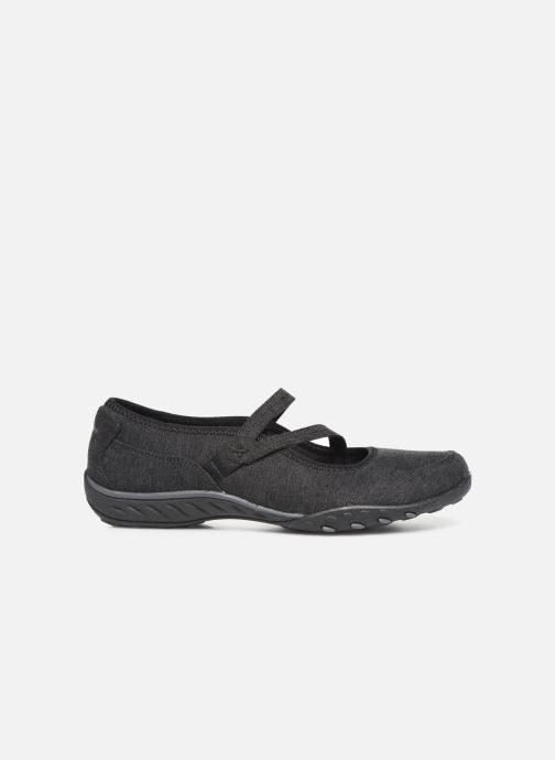 Bailarinas Skechers Breathe-Easy Feel Nice Negro vistra trasera