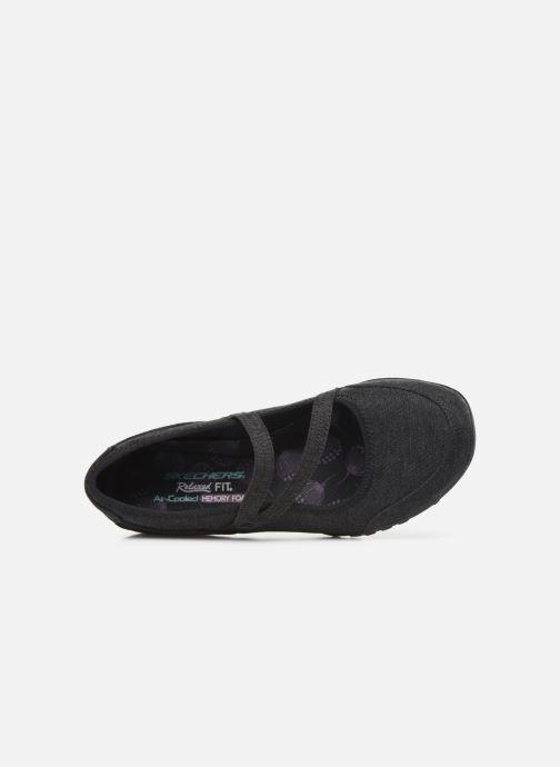 Ballerina's Skechers Breathe-Easy Feel Nice Zwart links