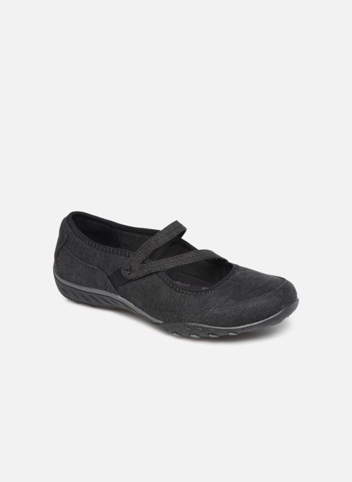 Bailarinas Skechers Breathe-Easy Feel Nice Negro vista de detalle / par