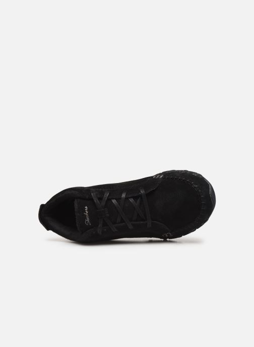 Trainers Skechers Bikers Lineage Black view from the left
