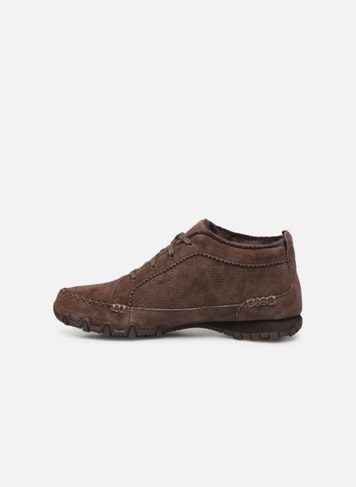 Trainers Skechers Bikers Lineage Brown front view