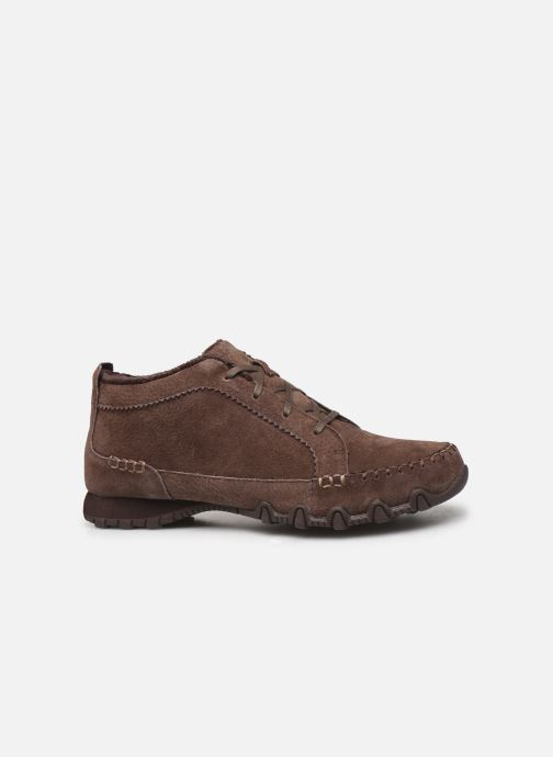Trainers Skechers Bikers Lineage Brown back view