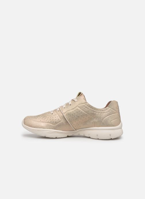 Trainers Skechers Seager Bronze and Gold front view