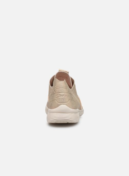 Trainers Skechers Seager Bronze and Gold view from the right