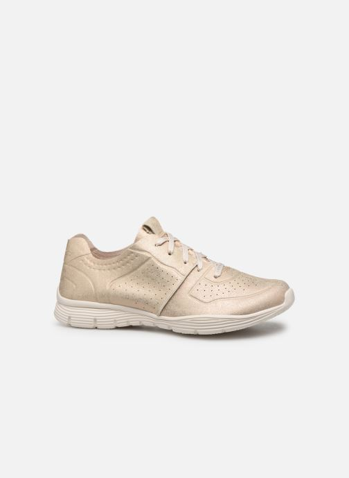 Trainers Skechers Seager Bronze and Gold back view