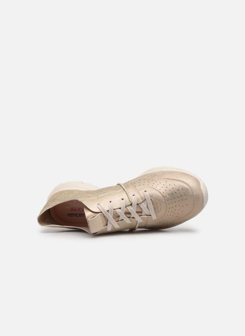 Trainers Skechers Seager Bronze and Gold view from the left