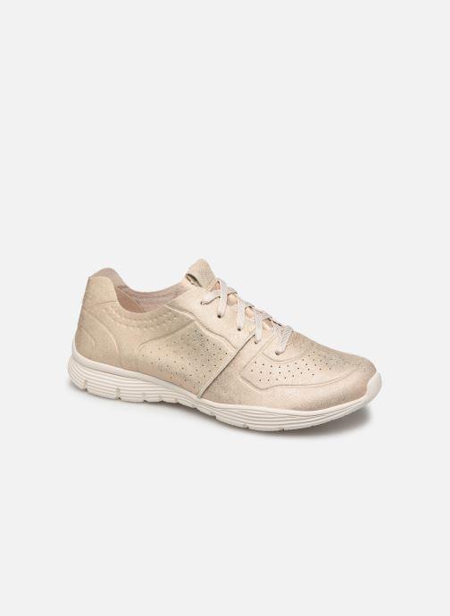 Sneakers Skechers Seager Guld og bronze detaljeret billede af skoene