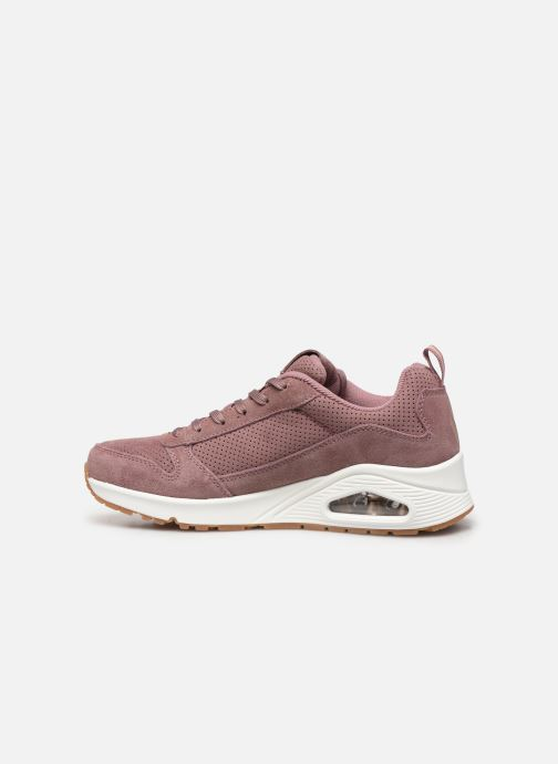 Baskets Skechers Uno Two For The Show Rose vue face