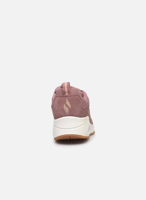 Baskets Skechers Uno Two For The Show Rose vue droite