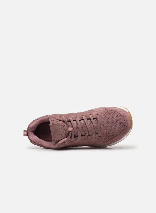 Baskets Skechers Uno Two For The Show Rose vue gauche