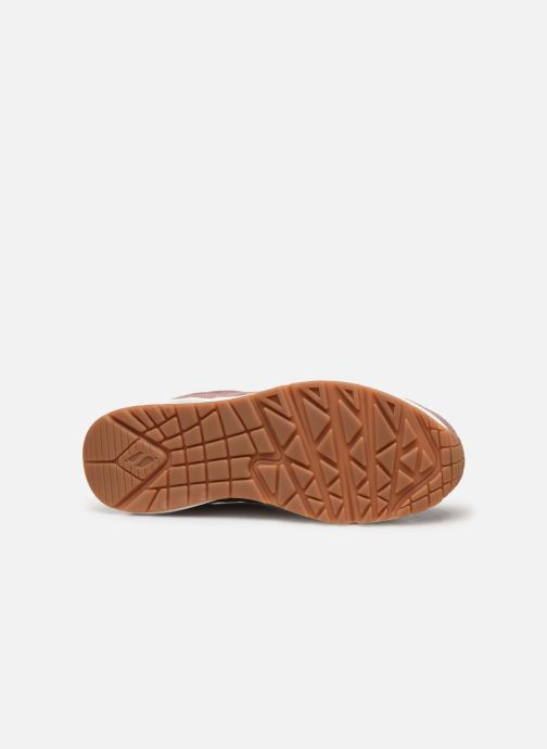 Baskets Skechers Uno Two For The Show Rose vue haut