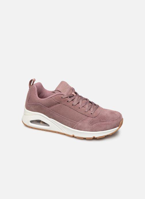 Baskets Skechers Uno Two For The Show Rose vue détail/paire